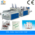 Hot Cutting Bottom Sealing Plastic Shopping Bag Making Machine (DFHQ-350X2)