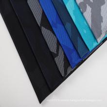 Custom printed mesh fabric 95%polyester 5%spandex dri fit printed fabric for dress