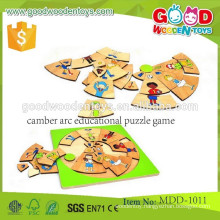new popular hot sale camber arc puzzle wooden educational puzzle game MDD-1011