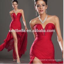Großhandelsfrauen-rote reizvolle Abend-Kleid-seitliche aufgeteilte Kleid-einzigartige Entwurfs-rote Abend-Kleider lange seitliche geöffnetes
