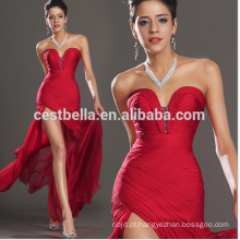 Atacado Mulher Red Sexy Evening Gown Side Split Dress Design exclusivo Red Evening Gowns Long Side Open