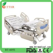 Cama médica de ICU de cinco funções elétricas com RCP