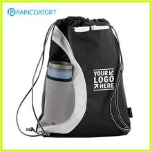 Promotional Nylon Drawstring Bag/Drawstring Backpack with Reinforced PU Corners RGB-029
