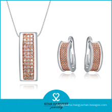 Hot Fashion Two-Tone Plating Sterling Silver Jewelry (SH-J0009E)
