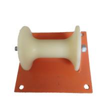 Rouleau de pose de câble d'alimentation électrique avec cadre en tôle d'acier