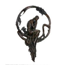 Estatua de latón en relieve Escultura de bronce Relieve femenino Tpy-691