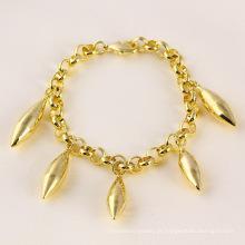 71472 xuping pulseira de preço especial popular com banhado a ouro 14k para meninas