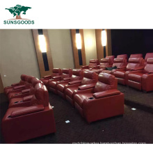 Best Selling Home Cinema Leather Recliner, PU Leather Home Theater Sectional Furniture