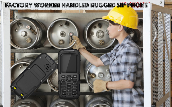 Factory Worker Handled Rugged SIP Phone