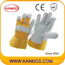 Желтый Полный Palm промышленной безопасности Теплые Сплит кожаные рабочие перчатки (110091)