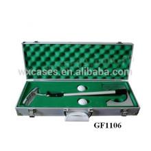 caja de aluminio portable de alta calidad para golf set por mayor