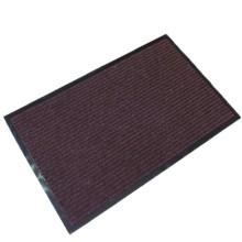 Hochwertige braune Bürotürmatte mit PVC-Rückseite