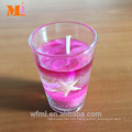 2017 Alibaba Best Seller New Outlet Yellow Gel Candle In Stock