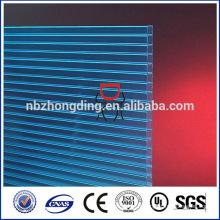 feuille en polycarbonate multicouches en plastique pour toiture, feuille transparente en polycarbonate