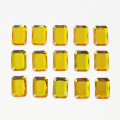 Yellow 15mm Large Square Rhinestone Stickers