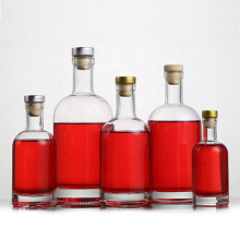 stocked 500ml empty clear glass wine vodka liquor bottle with cork stopper