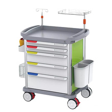 ABS material hospital medical mobile emergency trolley  price