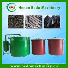 China factory direct smokeless gas flow coconut shell wood charcoal making machine oven