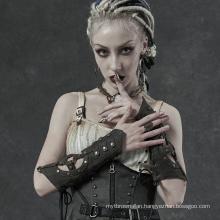 PUNK RAVE WS-338SSF lady girl sexy plus size women teampunk leather club glove sleeves