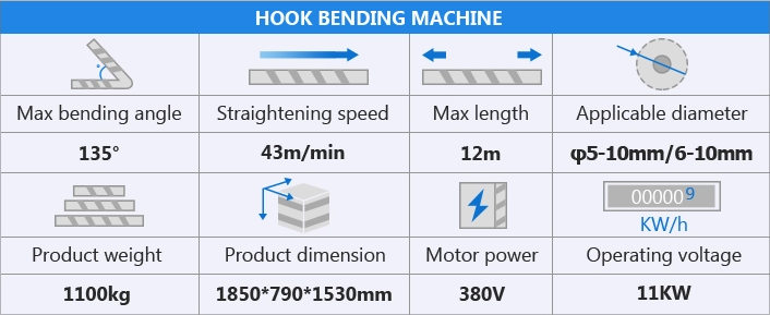Hook bending machine