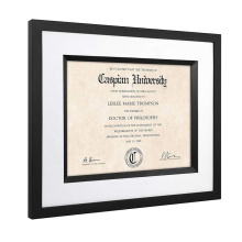 Hot Sale Custom Wholesale 11x14 Inch Black Documents Certificates Diploma Picture Photo Frame for decoration