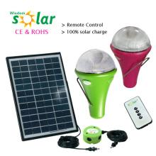Top Venta Solar portátil USB recargable cargador CE luz con bombillas LED