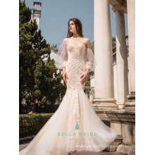 Guangzhou designer wedding dress fish tail wedding gown for philippines