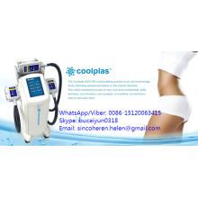 Máquina del salón de belleza de Cryolipo de la manija fresca del vacío de la reducción de las celulitis de la pérdida de peso 3s