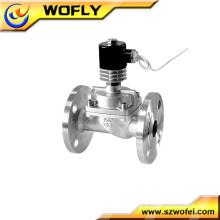 pilot-operated 24V DC high temperature high pressure solenoid valve