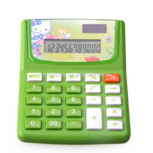 Cute Cartoon Dual Power Office Electronic Calculator