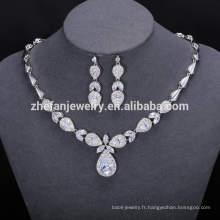 ZheFan gros bijoux de mariée de luxe indien sertie de cz