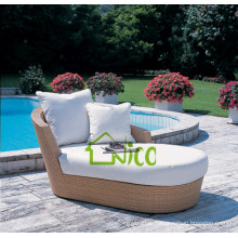 SL-(66) outdoor patio furniture PE rattan sofa cum bed/ sleeper sofa