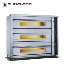 Kommerzieller Edelstahl-Plattform-Ofen mit Dampf-12-Fach-3 Plattform-Bäckerei-Ofen