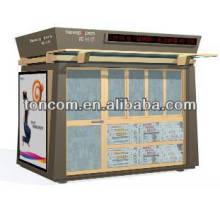 Le refuge pour kiosques d'information en acier BKH-47 est personnalisé