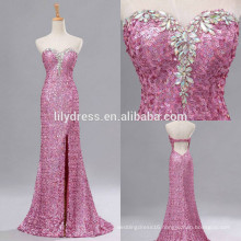 Sweetheart Neckline Mermaid Custom Made Floor Length Designs Long Evening Party Wear ED150 sequined backless evening dress