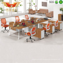 Hot Sales Modular 6 Seater Wooden Office Workstation with Cabinet