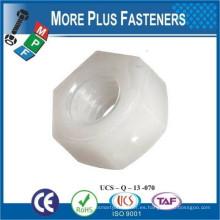 Hecho en Taiwán Metric Negro o blanco Nylon Plástico Tuerca hexagonal