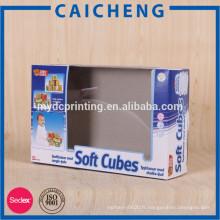 Boîte d'emballage de fenêtre en papier ciré pour emballage boîte de papier jouet