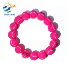 Promotional Customized logo silica gel bead Bracelet