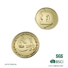 2016 Custom Design Metall Goldmünze mit Epoxy-Aufkleber