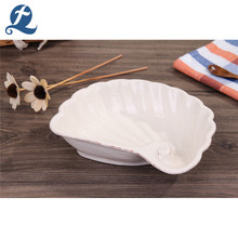Hochwertige Jakobsmuschel-geformte Keramik-Suppenteller