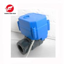 CR01 CR02 12V 24V DN15 DN20 UPVC CWX-60P válvula de esfera motorizada em plástico