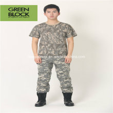 Camouflage Sport Army Round Collar Casual T-Shirts
