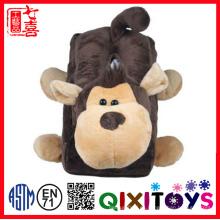 Mono felpa animal de dibujos animados caja de pañuelos cubierta decoración para el hogar muñeco de peluche de juguete