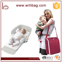 Multifunctional Diaper Mummy Shoulder Bag Foldable Baby Travel Cot Bag