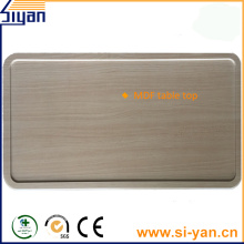 pvc film vacuum pressed table top wood