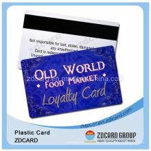 Impresión de la tarjeta de banda magnética para el miembro del club