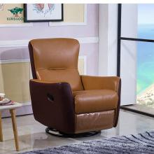 Amercia Style Genuine Leather Sofa Chesterfield Furniture Single Recliner Leisure Sofa