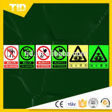 Warning signs & Guide signs, photo luminescent film