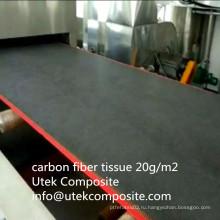 Высокотемпературное сопротивление 20 GSM Carbon Fiber Tissue